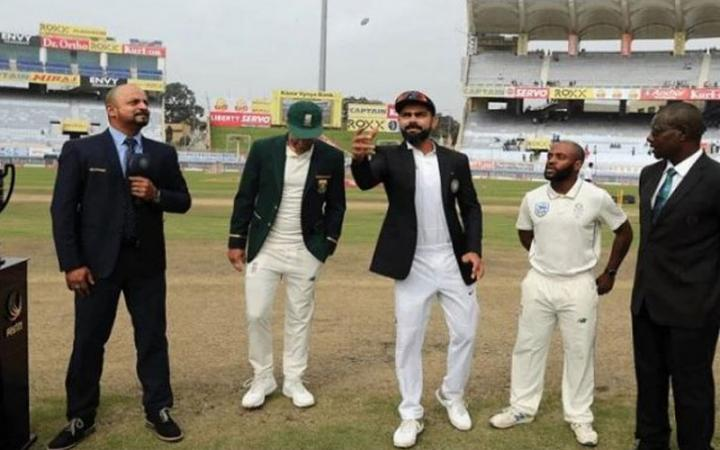 South Africa Team Captain Faf Du Plessis Calls Temba Bavuma For Toss Against India In Ranchi Test