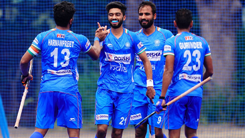 india men thrash newzealand 5-0 to win olympic test event