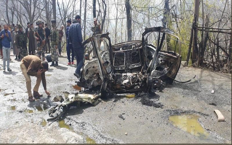 Jammu & Kashmir: A blast has occurred in a car in Banihal, ramban