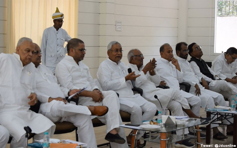 Nitish kumar says jdu will not be a part of national democratic alliance outside the state of bihar