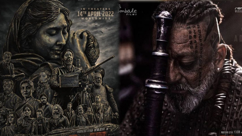 sanjay dutt shared kgf 2 poster and release date annouced