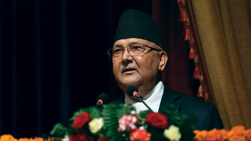 controversy over old map of nepal in olis dussehra greeting card technical reasons says oli govt