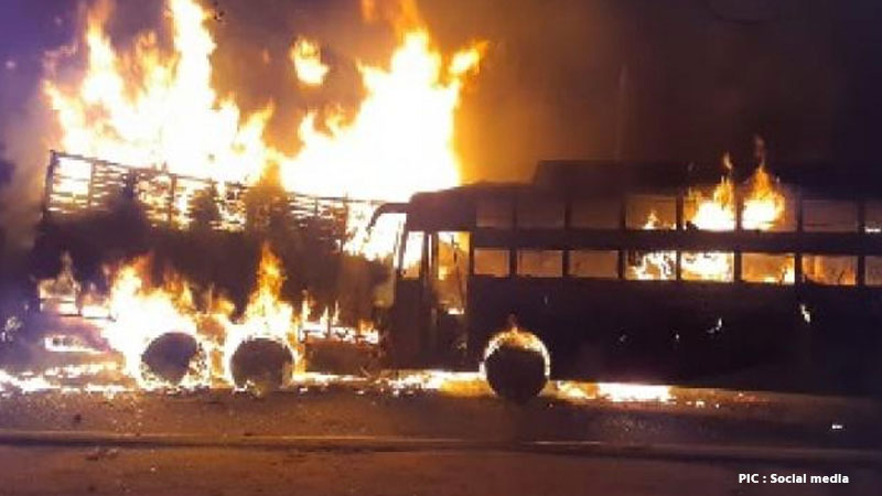 up kannauj clash between private bus and truck 20 People Death