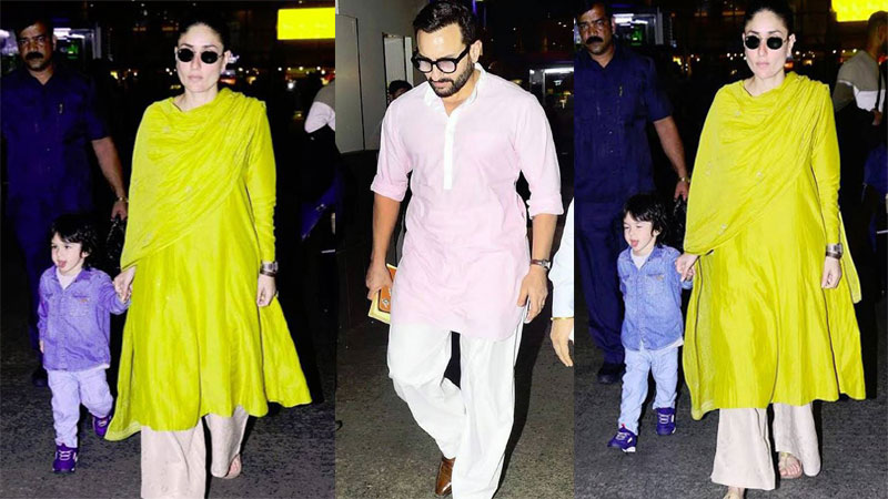 Saif Kareenas son Taimur Ali Khan teases paparazzi with his cute expressions