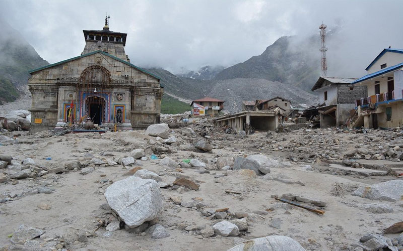 Uttarakhand disaster kedarnath chorabari lake scientist temple crisis