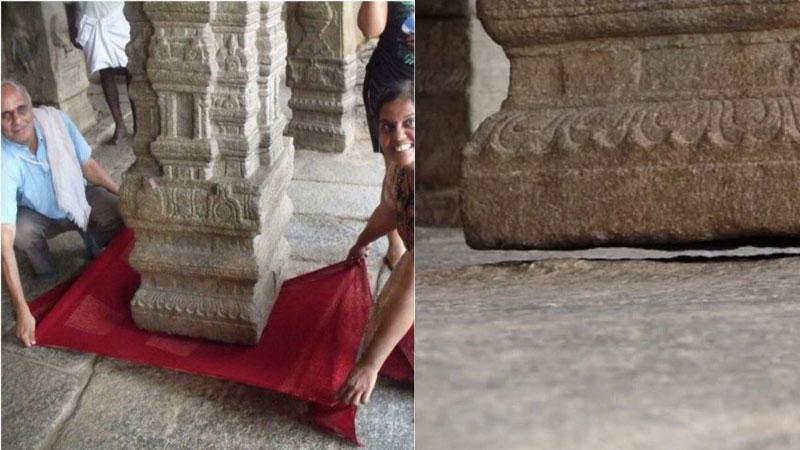 Lepakshi temple mystery of the hanging pillars of veerabhadra temple in andhra pradesh