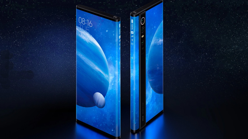 Mi Mix Alpha 5g phone of xiaomi covered with full glass body display soon launch in india