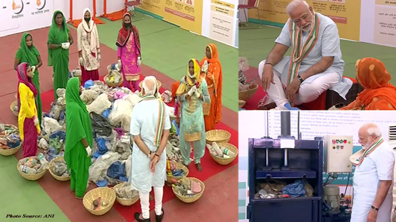 pm narendra modi mathura visit veterinary university animal health fair no plastic campaign