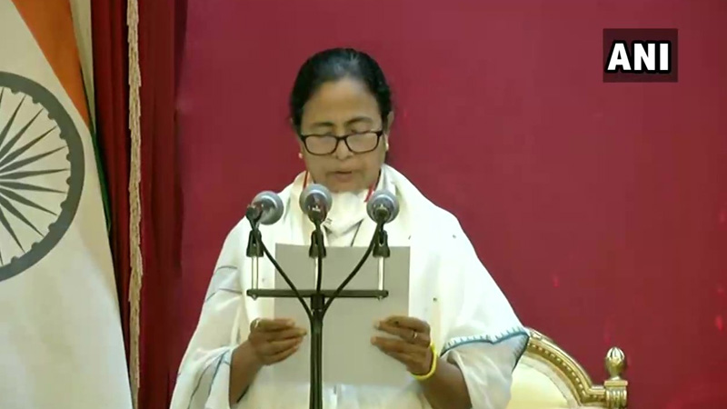mamata banerjee sworn in as chief minister of west bengal for the third time