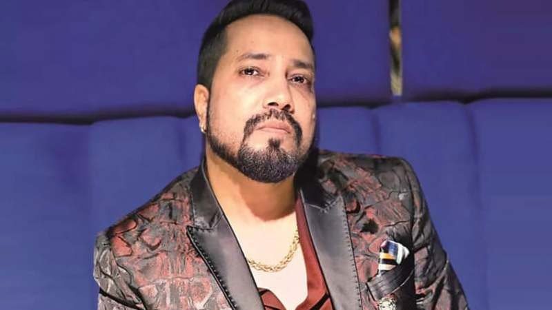 Members of All Indian Cine Workers Association (AICWA) protest against singer Mika Singh At Mumbai for performing in Pakistan