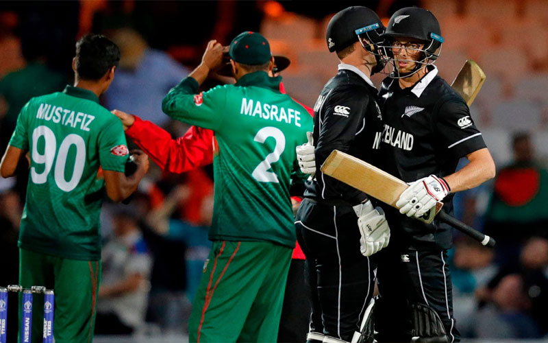 New Zealand win by two wickets