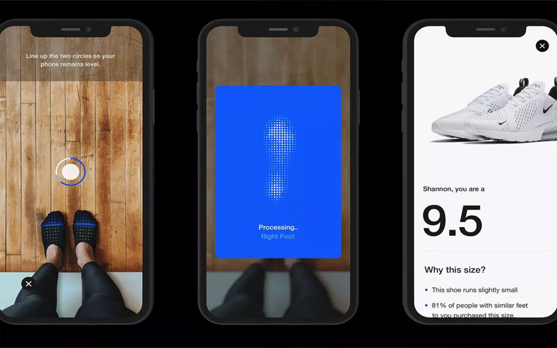 Nike app will use augmented reality to determine your shoe size