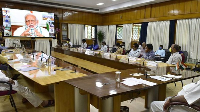 prime minister narendra modi to hold virtual discussion with 7 states chief ministers on sept 23