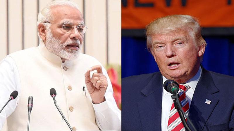 pm narendra modi us president donal trump talk america india relation