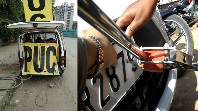 PUC and HSRP number plate changes increase date