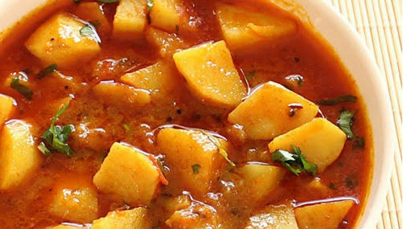 how to make potato with new curry style