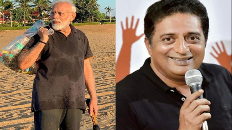 Prakash Raj Tweet Over PM Modi Does Plogging In Beach Of Mahabalipuram