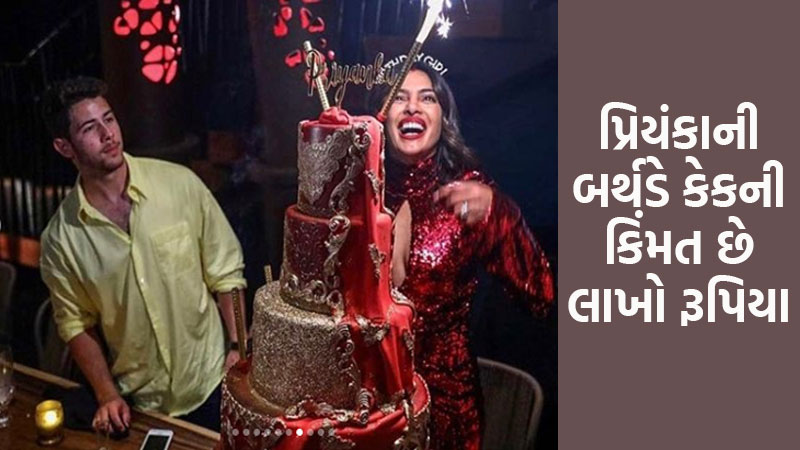 Priyanka Chopra's five-tiered birthday cake cost Rs 3.5 lakh, was Nick Jonas' idea