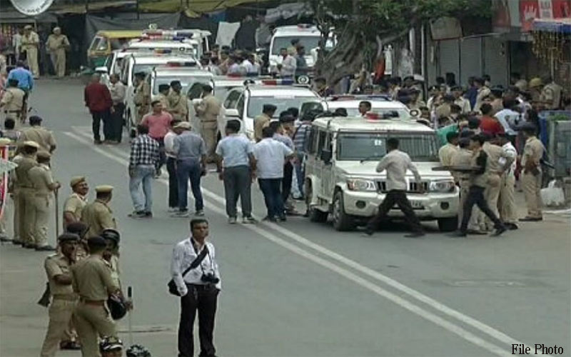 Jagannath 142th Rath yatra: police grand rehearsal