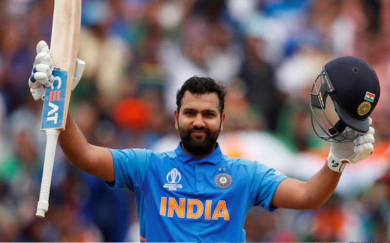 rohit sharma record world cup 2019 hat trick of centuries birmingham india vs bangladesh