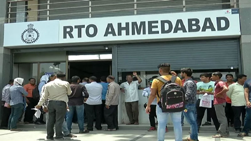 online system fail people pay for RTO staff and Agent for document gujarat