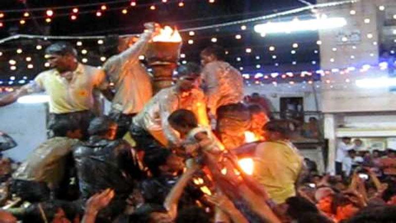 Gujarat navratri 2019 gandhinagar rupal vardayini mata palli