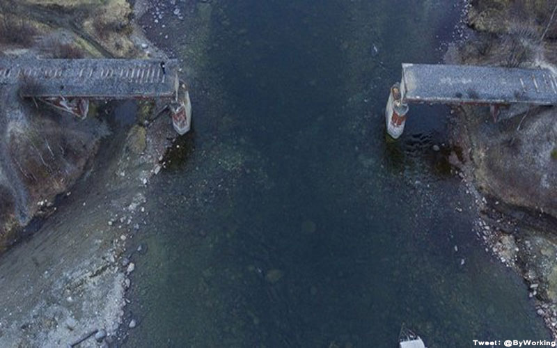Russia bridge theft disappear 56 tonne steal