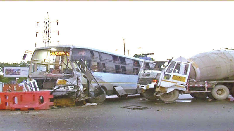 Two passenger passengers were killed when a tanker and ST bus collided