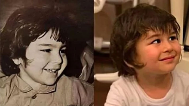 taimur ali khan mirror image of father saif ali khan old picture getting viral