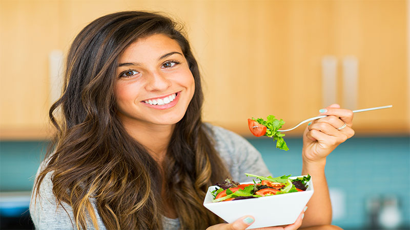Salad intake can also irritate the skin