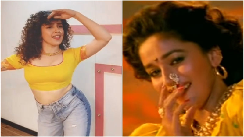 Sanya Malhotra Dance Video On Madhuri Dixit Song Humko Aajkal Hai Intezaar Viral