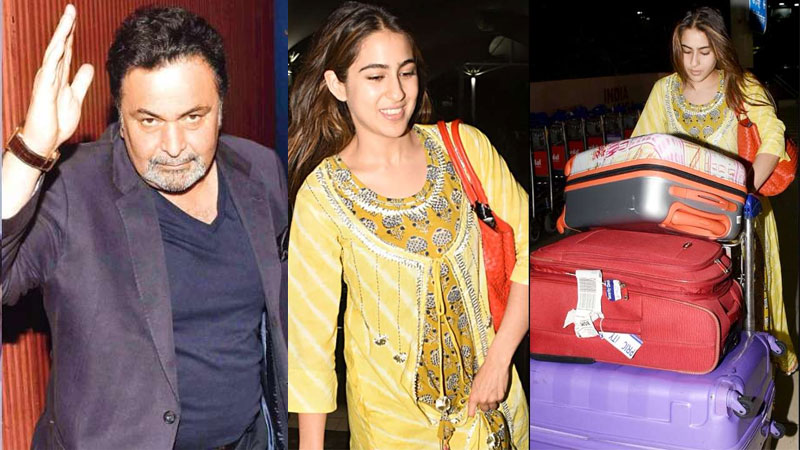 Actress Sara Ali Khan Carried Her Own Luggage At Airport Rishi Kapoor Praises Her on Social Media