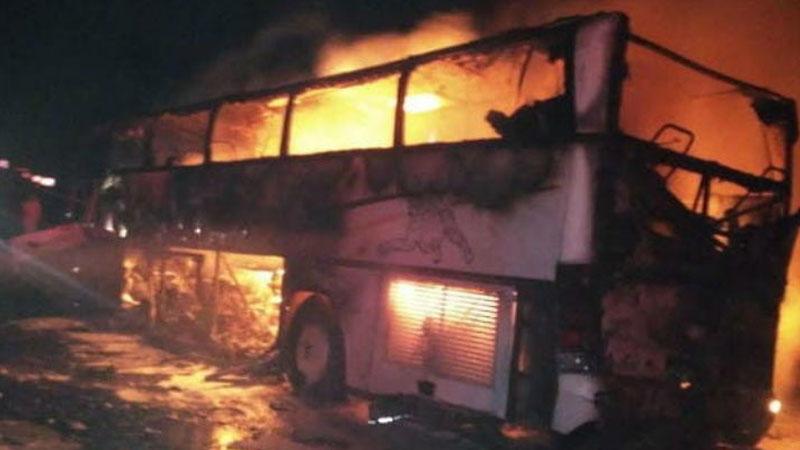 Horror Saudi Arabia bus crash leaves 35 dead
