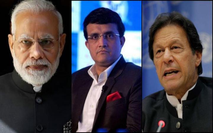 pm modi imran khan can decide on indo pak bilateral cricket ties says sourav ganguly