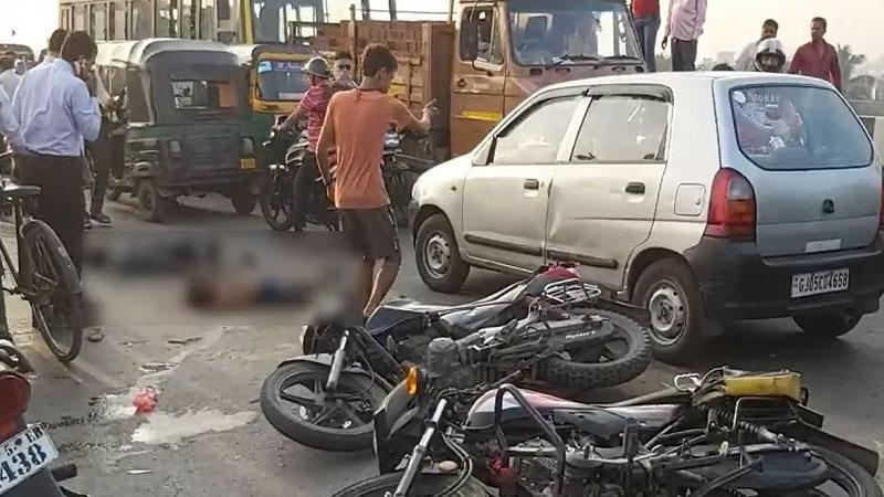 Surat accident 3 killed 1 injured