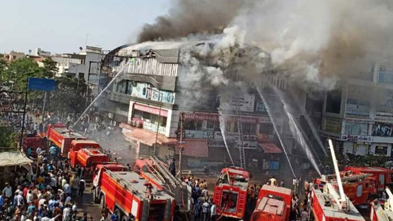 Surat fire tragedy three officers disproportionate property