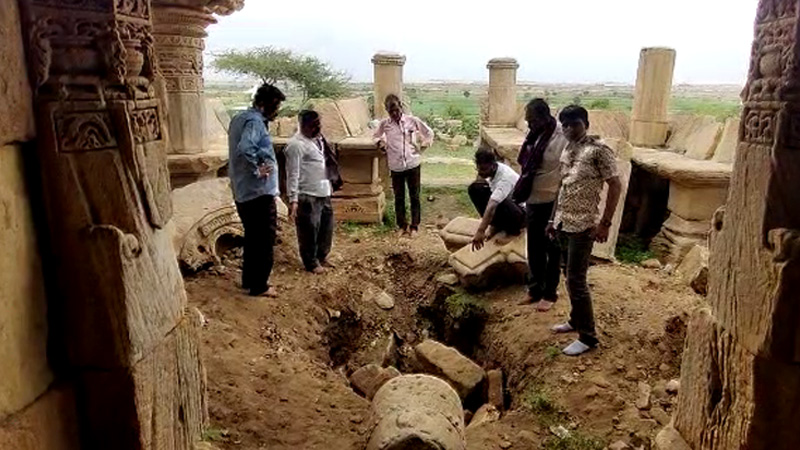 1200 year old Shiva temple vandalized by unknown persons due to lure of secret money