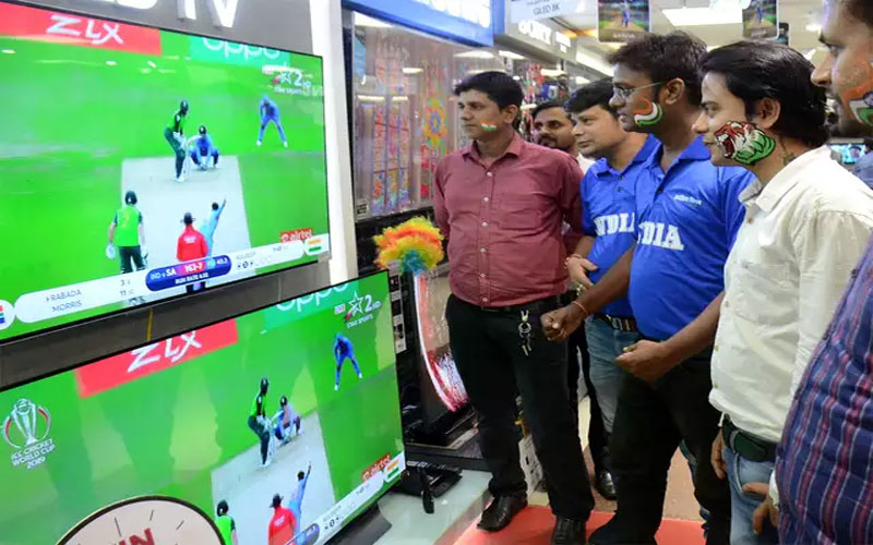 TV sales roll on World Cup pitch