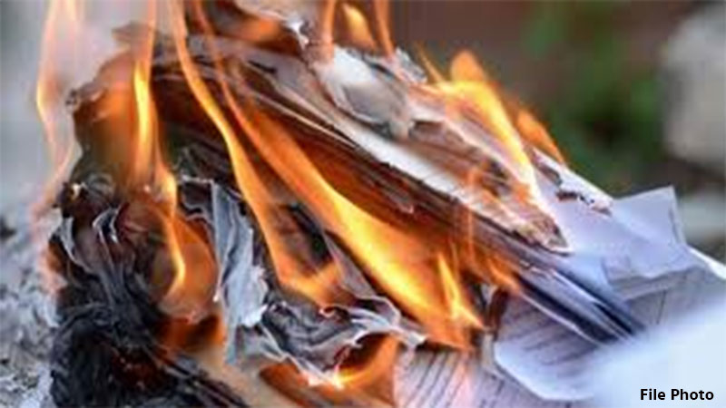 behest of Premika the youth burnt government documents