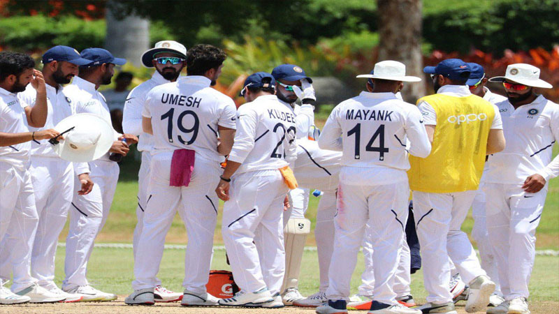players give a glimpse of India's new jersey ahead of 1st Test vs West Indies