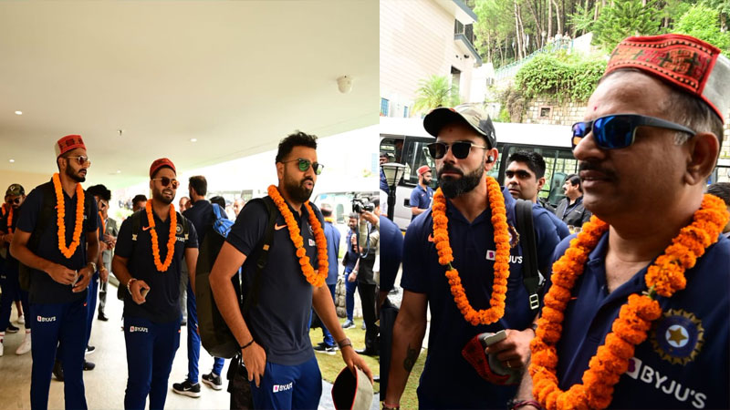 traditional welcome for Team India in Dharamshala ahead of the 1st T20I against South Africa