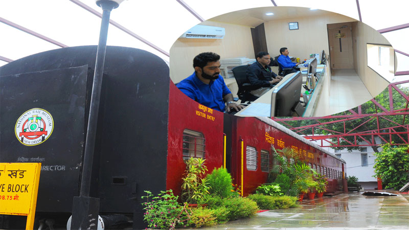 national rail museum makes administrative block in train compartments