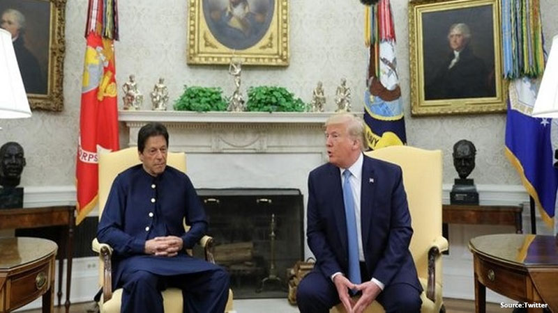 davos wef2020 us president donald trump and pakistan pm imran khan kashmir issue