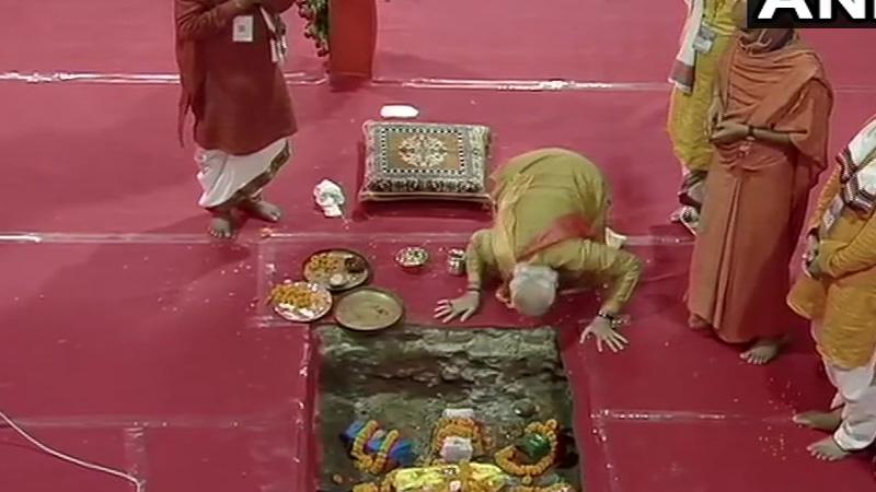 ayodhya ram mandir bhumi pujan live updates pm narendra modi cm yogi adityanath anandiben