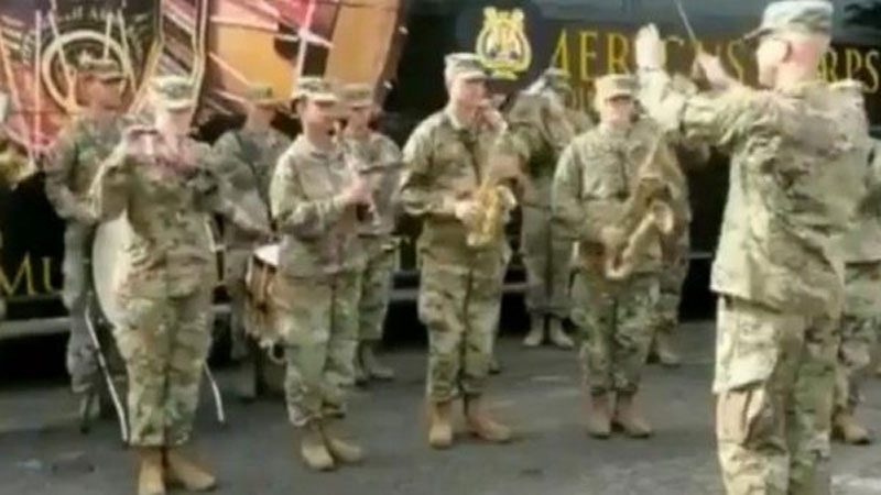 US Army band plays 'Jana Gana Mana' for Indian soldiers, video goes viral