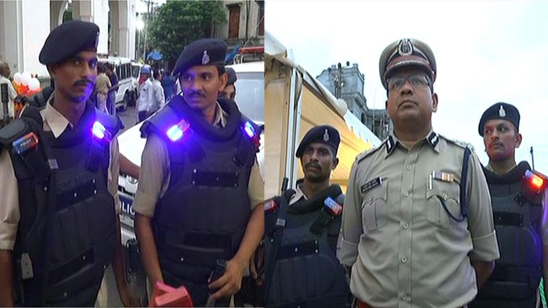 Vadodara police LED lights by Police Commissioner