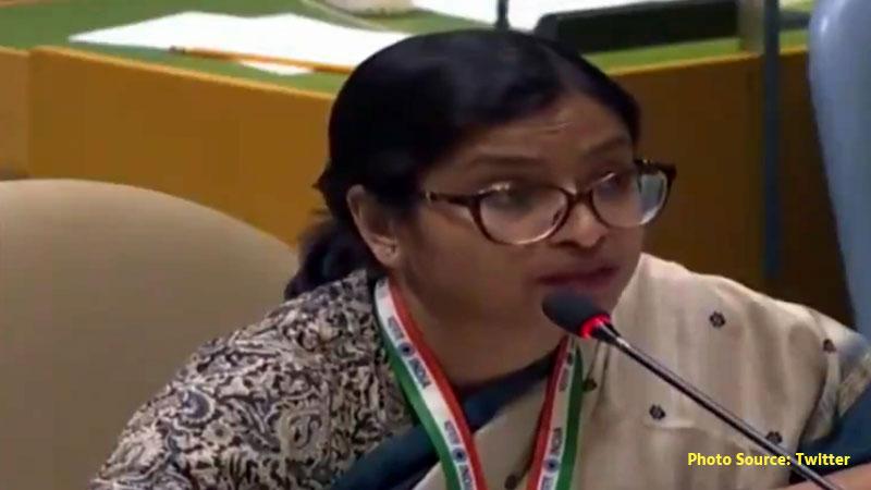 India First Secretary at the Permanent Mission to the UN Vidisha Maitra