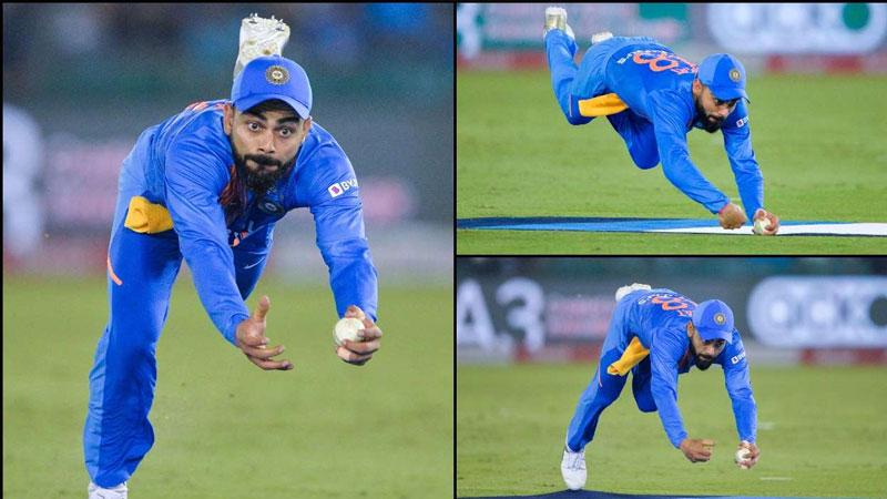 virat kohli catch fitness india vs south africa 2nd t20i match mohali