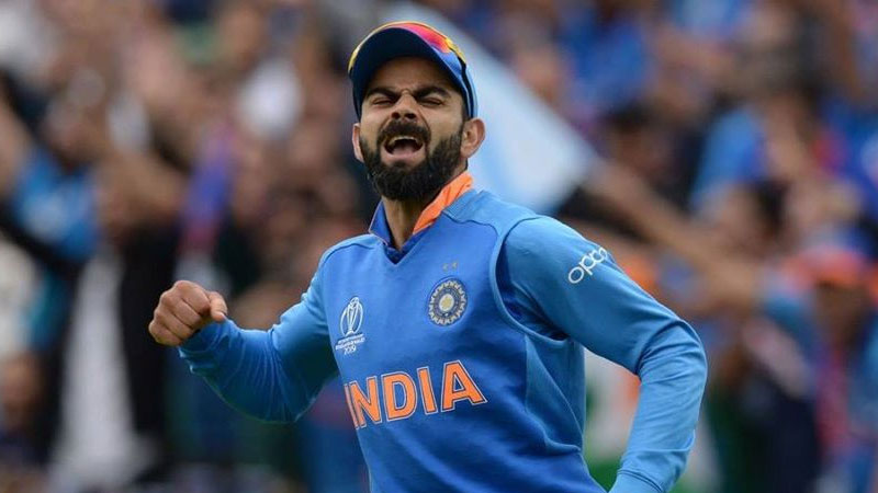 Virat Kohli mocks West Indies bowler Kesrick Williams by imitating notebook send off