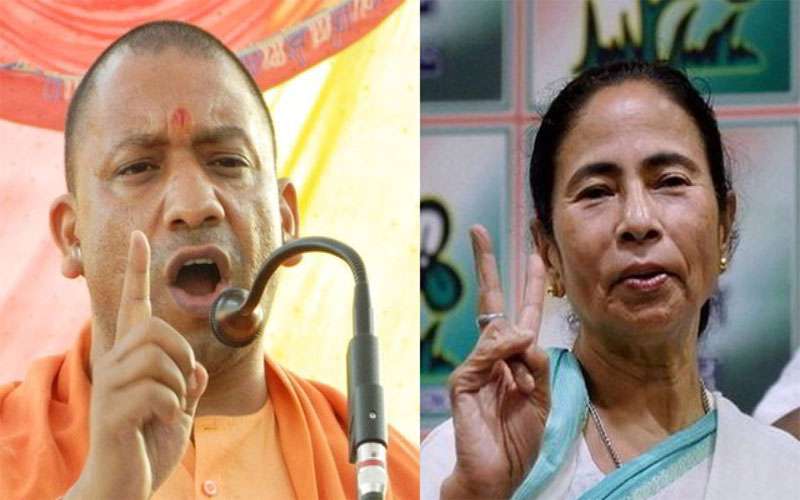 Yogi adityanath attacks on mamata banerjee tmc over clash in Amit Shah rally